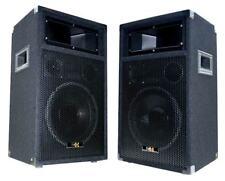 "E-Lektron PW25 2x500W DJ Party Laustsprecher PAAR Disco Box 10"" Basslautsprecher"