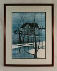 "Large P. Buckley Moss Print  ""Valley Homestead"" Bushong Farm, VA #26/1000 -1986"