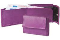 Rinaldo® Mini Geldbörse mit Geldscheinfach aus feinem Nappa Leder in Lila