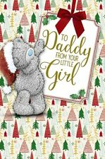 Me to You Tatty Teddy Christmas Daddy From Your Little Girl Card Xse01004