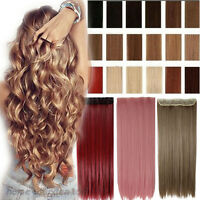 100% Natural as human hair Clip in Hair Extensions Full Head Wavy Straight L08