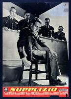 T104 Fotobusta Tortura Paul Newman Corey Pidgeon Lee Marvin o ' Brien Franc 2