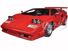 LAMBORGHINI COUNTACH 25TH ANNIVERSARY EDITION RED 1/18 MODEL BY AUTOART 74534