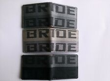 BRIDE JDM VERSION 1 racing seat fabric and leather wallet great gift idea school