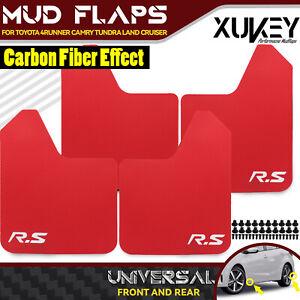 4Pcs Rally Car MudFlaps Splash Guards Mudflaps Fender Front / Rear RED Universal
