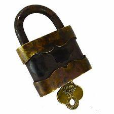Eagle Padlock Vintage Lock Brass Key
