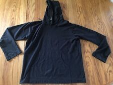 Be Present Yoga Top Hoodie Jacket Charcoal Large Size  Organic Cotton Rare Find