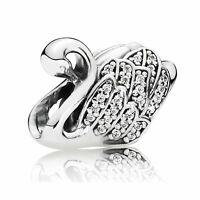 Pandora Majestic Swan Charm 791732CZ ALE 925 Sterling Silver