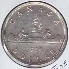 1936 Canada Silver Dollar Choice BU - MS60