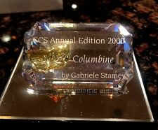 Swarovski Scs Collectors Society 2000 Annual Edition Columbine