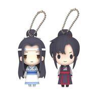 2x the Untamed Key Ring Keyring Doll Toy 陈情令 MDZS Lan Wangji Wei Wuxian 王一博肖战