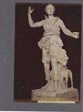 Sculpture gréco-romaine Diane Cerere Grèce Italie 2 Photos Vintage ca 1880
