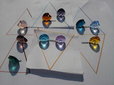 12 X Crystal Faceted Glass Heart Beads Pendants, Jewellery Making, Size (mm) 14