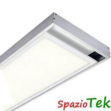 KIT cornice 120x30 accessori FISSAGGIO PANNELLO LED plafoniere al MURO soffitto