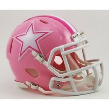 DALLAS COWBOYS PINK (BREAST CANCER AWARENESS) SPEED FOOTBALL MINI HELMET NEW