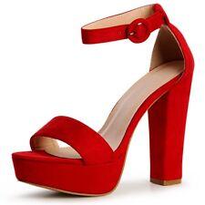 4fa57bd4 Calzado de mujer sandalias con plataforma rojos | Compra online en eBay