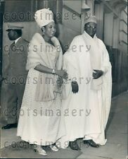 1969 Niger West Africa President Hamani Diori & 1st Wife Aissa Press Photo