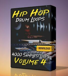 Hip Hop Drum Loops Volume 4 FL Studio Ableton LogicPro Reaper Acid WAV Pro Tools