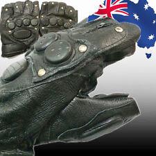 Men S Leather Fingerless Gloves Ebay