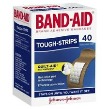 * Johnson's Band-Aid Tough Strips 40 Sterile Fabric Strips Quilt-Aid Tech