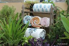 5 Pcs Baby Quilt Lot Handmade Blanket Squire Size Soft 3 Layer Baby Spoon flower