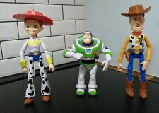 Toy story figures bundle, Woody, jessie and Buzz. Woody talks.