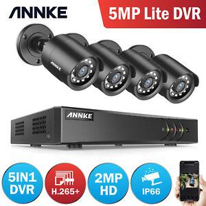 ANNKE H.265+ 8CH 5MP Lite DVR 3000TVL 1080P HD Camera CCTV Home Security System