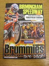 06/04/2007 Speedway Programme: Birmingham v Sheffield [Premier Trophy] (results