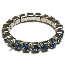 Blue Crystal Stretch Toe Ring