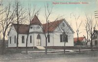 Minneapolis Kansas c1910 Postcard Baptist Church