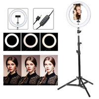 "10"" LED Ring Light Dimmable Lighting Kit Phone Selfie Tripod Makeup Youtube Live"