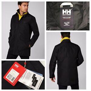 HELLY HANSEN Dubliner Rain Coat HELLY TECH Black Size XL NEW RRP £150