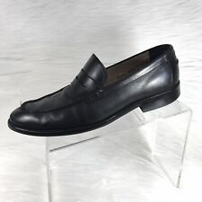 Banana Republic Mens Penny Loafers Black Leather Size 9.5 M