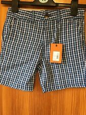 Boys Ben Sherman Checks Blues Shorts Age 8-9 Years
