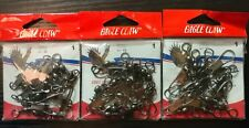 (3) Eagle Claw 01142-001 Safety Snap Swl Size 1 Black 12 Per Pack