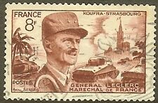 "FRANCE TIMBRE STAMP N°942 ""MARECHAL LECLERC 8F"" OBLITERE TB"