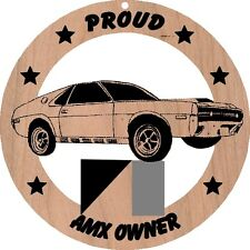 1970 AMC AMX Wood Ornament Engraved