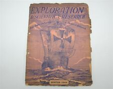 Pan-American Society of Tropical Research Exploration Scientific Winter 1944