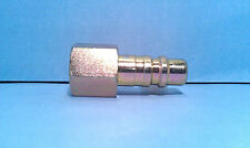 1/2 Inch Zinc Plated Steel Quick Disconnect Industrial Plug 1/2 Inch Female  NPT