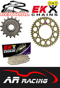 Renthal Sprocket / EK Chain Kit ( 520 Race Pitch ) for Suzuki GSXR 1000 01-08