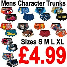 Mens Official Character Boxer Trunks Shorts Sizes S-XL Marvel Disney New Gift