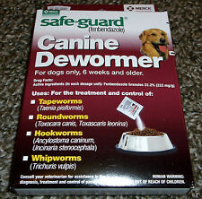 Brand New Maroon Safe-Guard Canine Dewormer - Treats 40 Lbs - Ships Free!