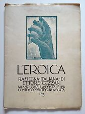 """LIBRO ANTICO LEGATURA """"L'EROICA"""" ETTORE COZZANI VOLUME 162 1932"""