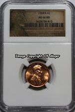 1969 S LINCOLN CENT PENNY DOUBLED MECHANICAL DOUBLING  NGC MS 66 UNC MS66RD