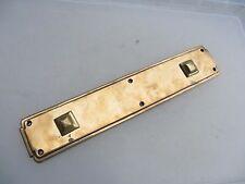"""Vintage Bronze Finger Plate Push Door Handle Architectural Antique 1927 Deco 14"""""""