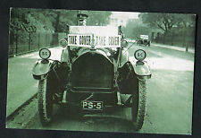 C1900s Nostalgia Card: 1917 View of Motor Car in Regents Park: Air Raid Warning