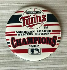 Minnesota Twins 1987 American League Western Division Champions Pinback Button