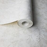 Wallpaper gold metallic cracks ivory plaster Plain Textured Wall coverings rolls