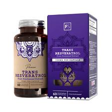 Trans-Resveratrol     150mg     60 Capsules    Strong Antioxidant   Anti-Aging