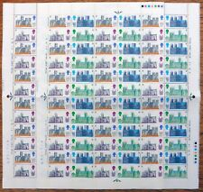 Gb 1967 Cathedrals Both 1A Dot & No Dot Complete Sheet of 72 See Below Nb4330